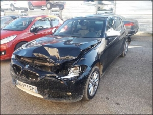 Voiture accidentée : BMW 118D