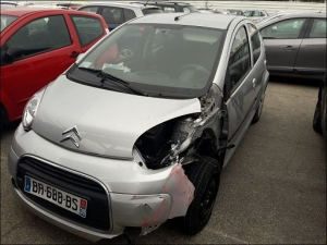 Voiture accidentée : CITROEN C1