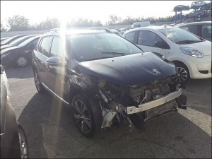 Voiture accidentée : PEUGEOT 2008