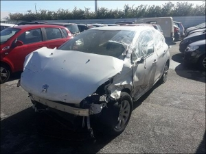 Voiture accidentée : PEUGEOT 208